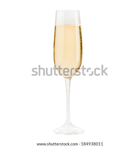 Beautiful picture of a glass of champagne - stock photo