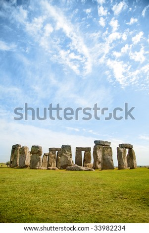 Beautiful picture of Stonehenge in a sunny day - stock photo