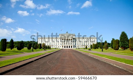 Beautiful picture of Stormont, the Norther Ireland Parliament Building - stock photo