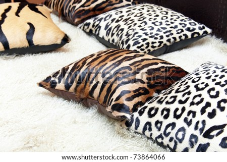 Beautiful pillows of a leopard colour