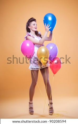 beautiful pin up with balloons