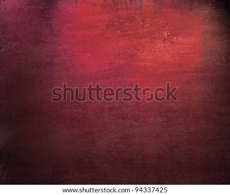 beautiful pink red background with dark vintage grunge texture and lighting of black vignette frame on border of canvas and distressed stain streaks on wallpaper illustration design for graffiti art - stock photo