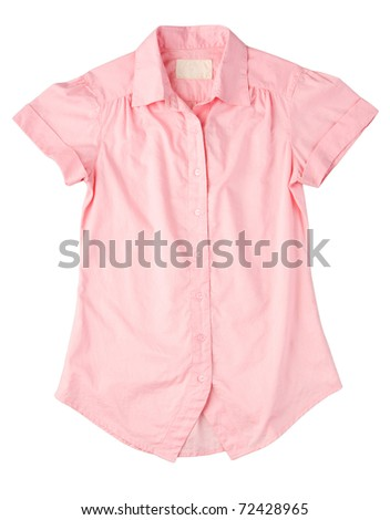 Beautiful pink shirt for working, shopping or traveling - stock photo