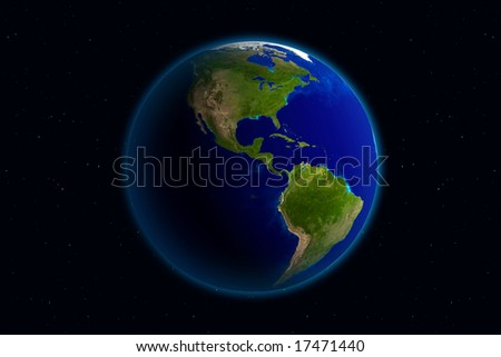 Beautiful Planet Earth. Viewing America. - stock photo