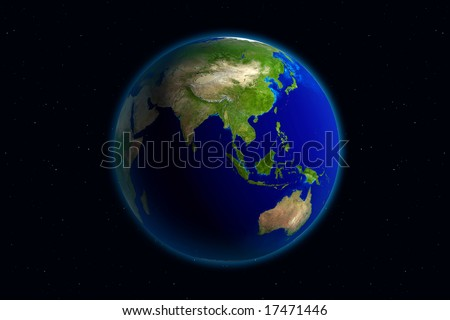 Beautiful Planet Earth. Viewing Asia. - stock photo