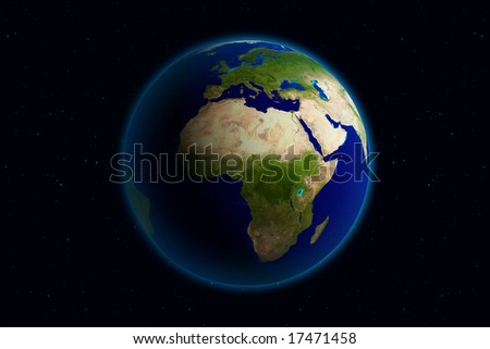 Beautiful Planet Earth. Viewing Europe. - stock photo