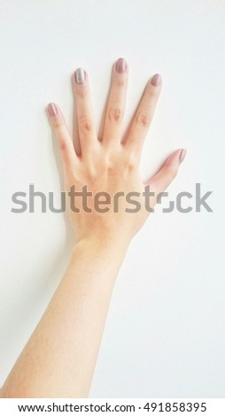 Beautiful pointing hand