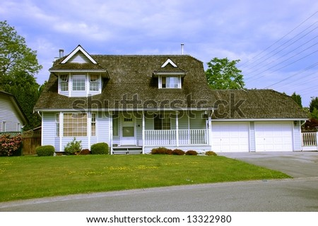 Beautiful Polished Country Peaceful Home - stock photo