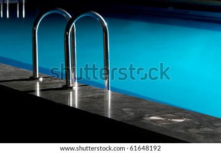 beautiful pool indoor recreation - stock photo