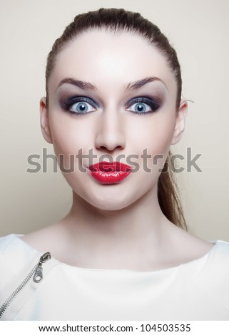 beautiful portrait - stock photo