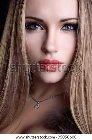 beautiful portrait - stock photo