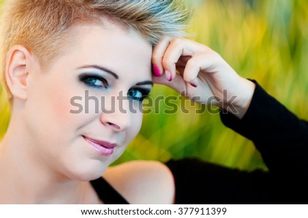 Beautiful portrait of a happy young woman
