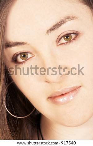 beautiful portrait of a model with very soft skin and lovely eyes