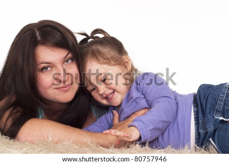 beautiful portrait of a mom and her daughter