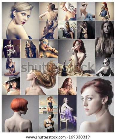 Beautiful Portraits - stock photo