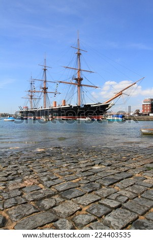 beautiful Portsmouth harbour, England  - stock photo