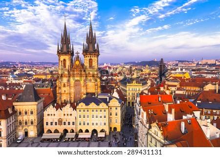 beautiful Prague . Old town - stock photo