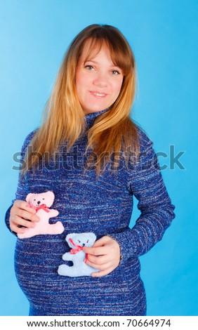 Beautiful pregnant woman - stock photo