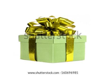 Beautiful present box - stock photo