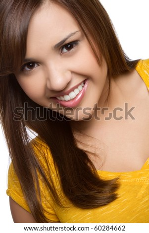 Beautiful pretty smiling teen girl - stock photo