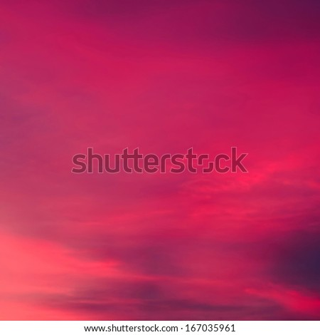 Beautiful purple sky for background - stock photo