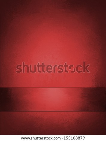 beautiful red background Christmas color layout with vintage grunge background texture design and ribbon stripe on bottom border for web layout design and posters ads brochures and graphic art