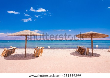 beautiful Red Sea water on hot egypt - stock photo