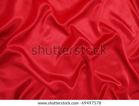 Beautiful red silk cloth is the romantic texture - stock photo