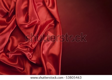 Beautiful red silk linen with copy space