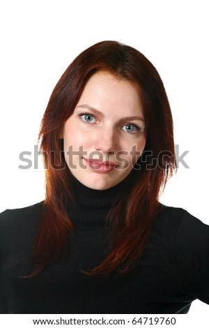 Beautiful Redhead Girl Portrait - stock photo