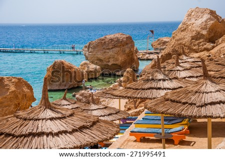 beautiful relaxing place on Red sea in Sinai - stock photo