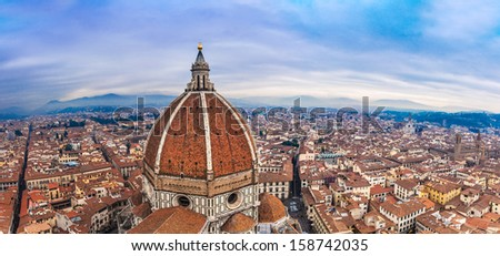 Beautiful renaissance cathedral Santa Maria del Fiore in Florence, Italy - stock photo