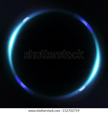 beautiful ring flare effect is simple to add on background - stock photo