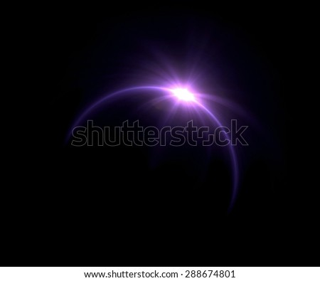 beautiful ring lens flare effect is simple to use add on background - stock photo