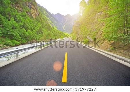 beautiful road  - stock photo