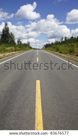 beautiful road in the northeast of china - stock photo