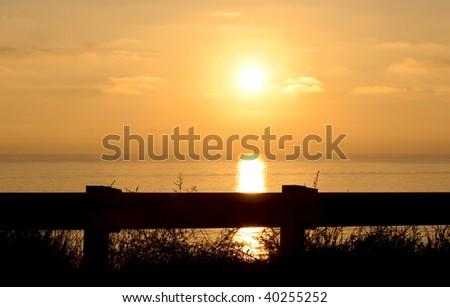 Beautiful Roadside Sunset - stock photo