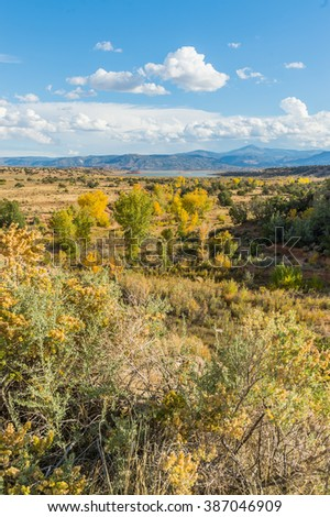 Beautiful rocky landscape of sunny country of Colorado, USA