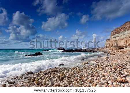 Beautiful rocky sea beach