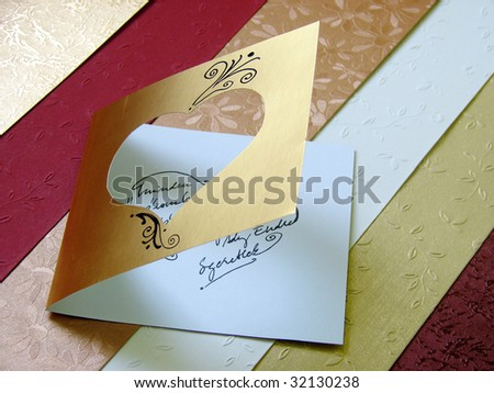 beautiful romantic greeting card on textured background | handmade | self made