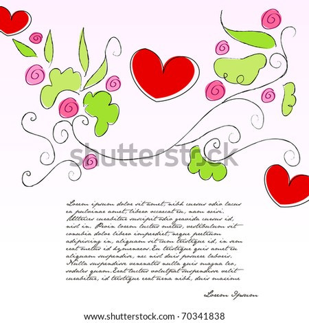 Beautiful romantic Valentine's Day background