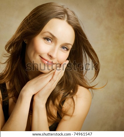 Beautiful Romantic Woman portrait - stock photo
