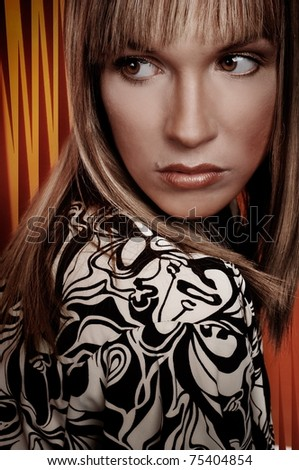 Beautiful Romantic Woman portrait - stock photo