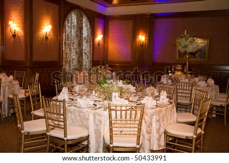 Beautiful room decorated for a reception
