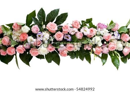 beautiful rose flower on the wedding. - stock photo