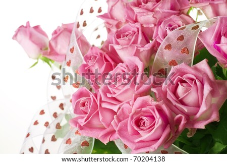 Beautiful Roses Bouquet - stock photo