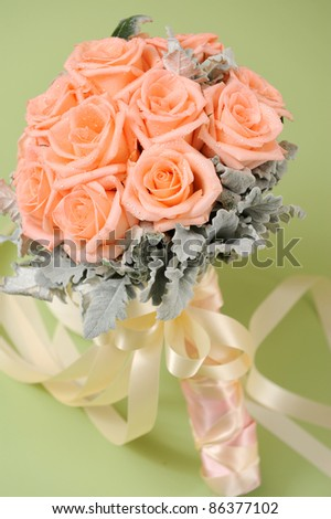 beautiful roses bouquet - stock photo