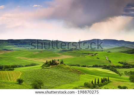 Beautiful rural landscape of Tuscany. Italy