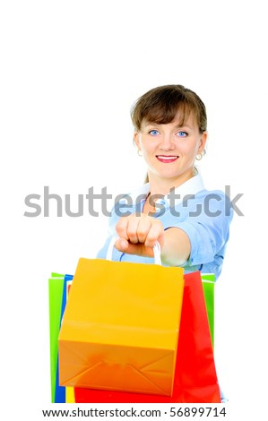 Beautiful sales associate - stock photo