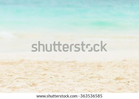Beautiful sand and sea background of Ta Chai island in Andaman sea, Thailand. - stock photo